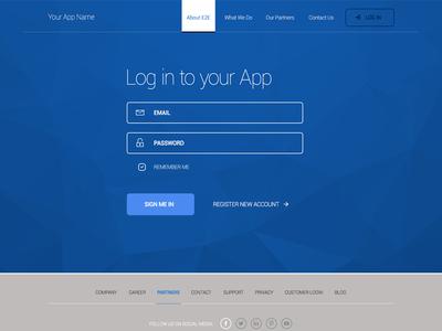 Freebie: Login Landing Screen