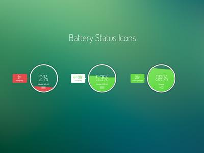 Freebie: Battery Status Icons