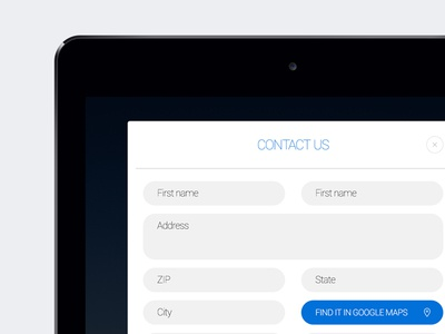 Freebie: iPad Contact Form