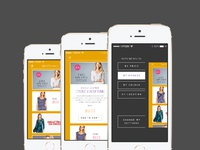 Iphone shopping app with menu