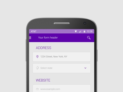 Freebie: Android Form