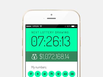 Freebie: Lottery app iOS screen