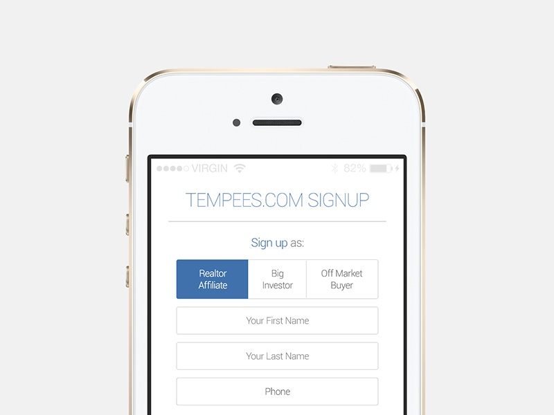 Freebie: iOS app signup ios app screen tab switch form input button register free psd