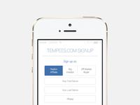 Freebie: iOS app signup