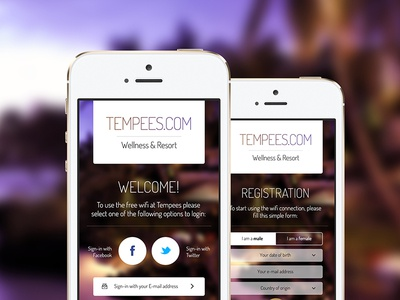 Freebie: Login and Register App Forms login register form button input select social switch free psd