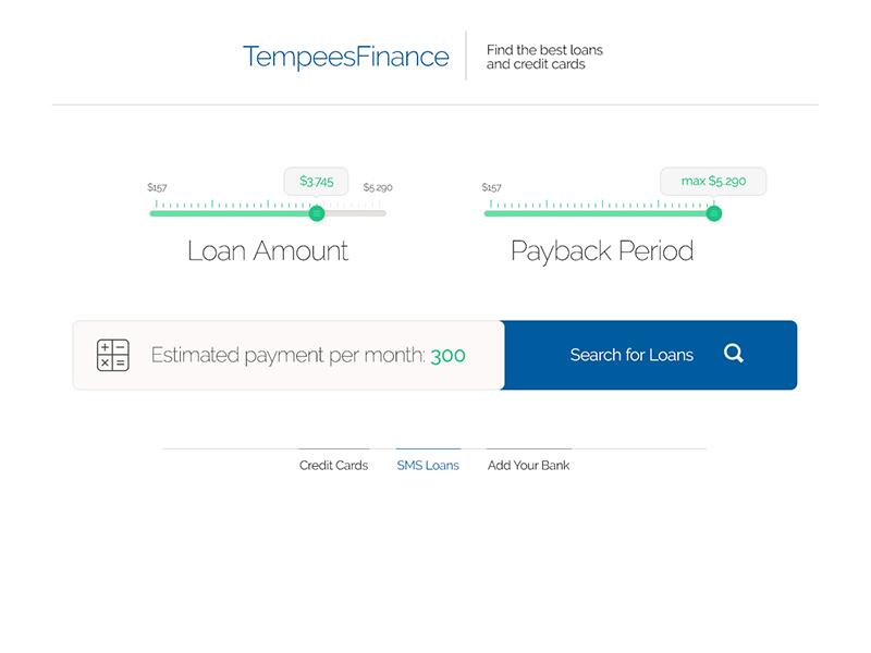 Financial Web Screen with Sliders finance money loan screen app landing slider period button free psd
