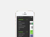 Benefits app menu