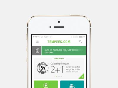 Freebie: Benefits App app ios eshop benefits categories news icon free psd