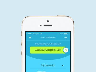 Freebie: Wifi Network List app wifi network app list manage delete secure invite button free psd
