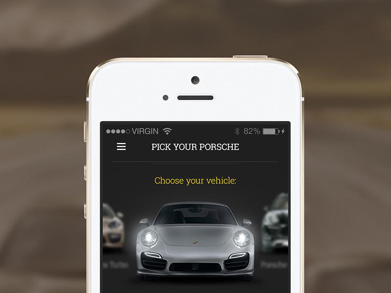 Freebie: Car Selection Screen car select choose app detail info pick trip speed free psd