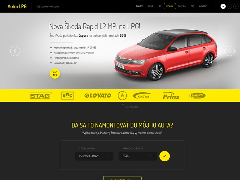 AutoplusLPG Website project car auto lpg cng gas retrofit conversion web automotive plyn