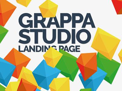 GrappaStudio colourful fresh homepage design portfolio landing page website grappa.sk grappastudio