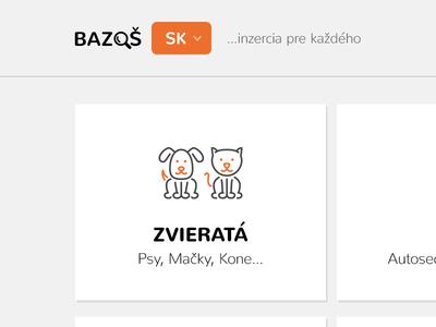 Bazos.sk Redesign Concept brand creative advertisements buying selling portal concept website redesign bazos.cz bazos.sk