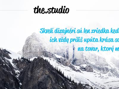 the.studio ui ux studio website landing page design thestudio.sk