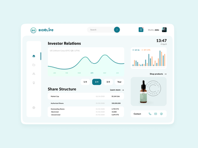 BioElife Dashboard dashboard ui dashboard graphic design branding ux ui brand identity design