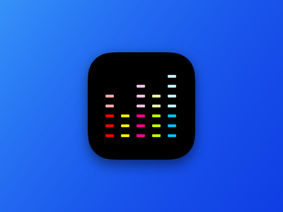 New Deezer icon (concept) equalizer deezer sketch music icon ios iphone app ui