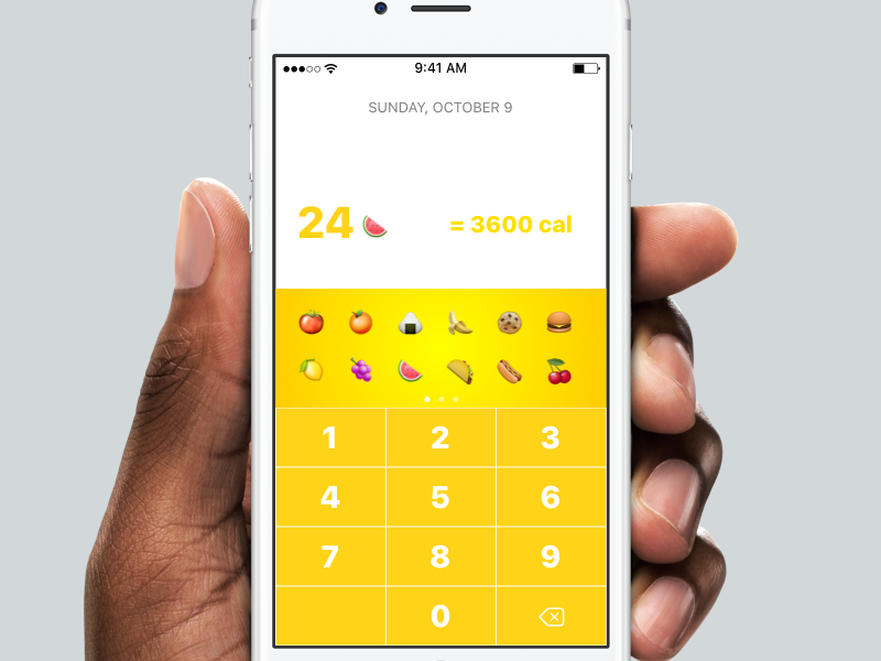 Daily UI Day 4 Calculator iphone ios mobile minimal design 4 day ui daily calculator