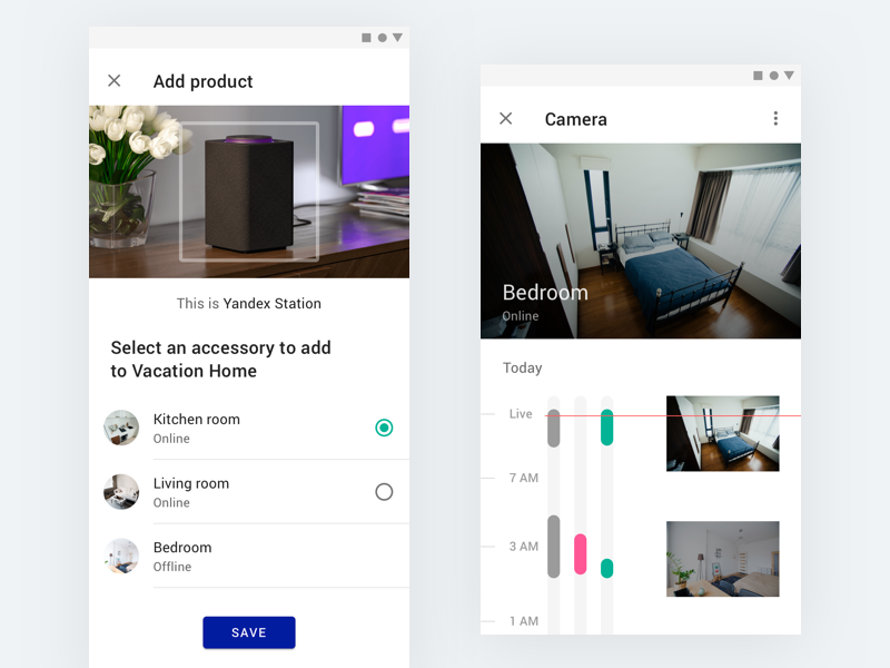 Smart Home Concept with Material 2.0 android google material design material modern white app design ux ui