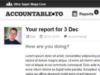 Accountably report