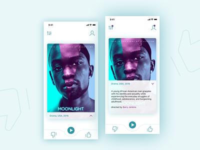 Moovie app flat uidesign ui design minimal ui ux design app