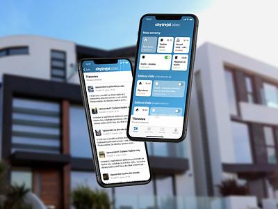 SmartCity Mobile App smarthome app development company functional uidesign czechdesign ios app smart smartcity app design