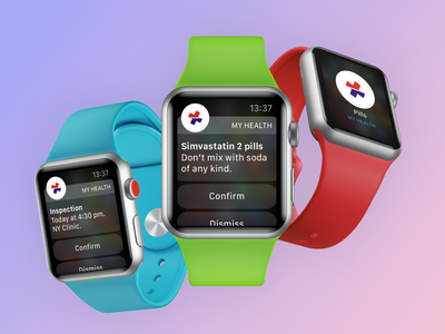 OnlineAmbulance App - Apple Watch support reminder design health app health healthcare telehealth apple watch app design app development company