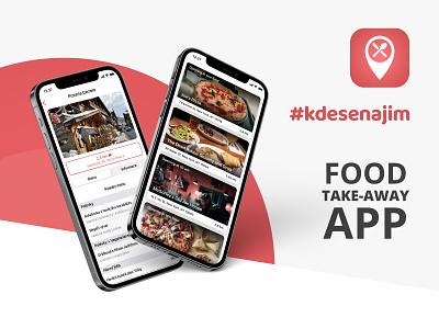 #kdesenajim Food take-away app app design take away food app food delivery app delivery app takeaway restaurant app