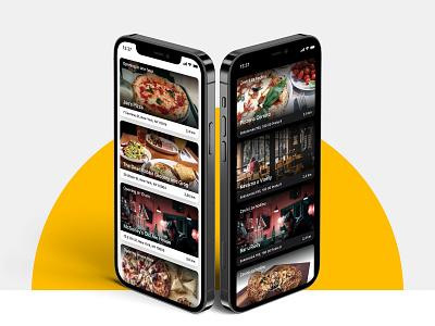 #kdesenajim - Food take-away app restaurant app darkmode food ordering food app take away ios app app design