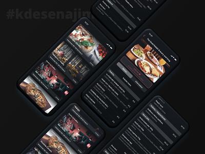 #kdesenajim Dark Mode interface ui dark ui dark app dark mode food delivery app restaurant app takeaway