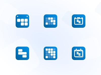 Icon ideas for the Shift Calendar app app icon design calendar app icon design iconography icon set app icon icon