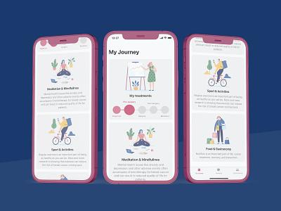 My Journey app design ios app design ux meditation treatment healthcare app healthcare app design