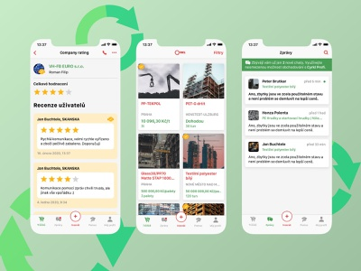 Cyrkl App - Waste 2 Resource Marketplace waste management marketplace app app design ios app ecology recycle circular economy
