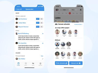 Shifter - Social features social app design social features social app android app ios app app development czechdesign work app shift app calendar app app design calendar ui