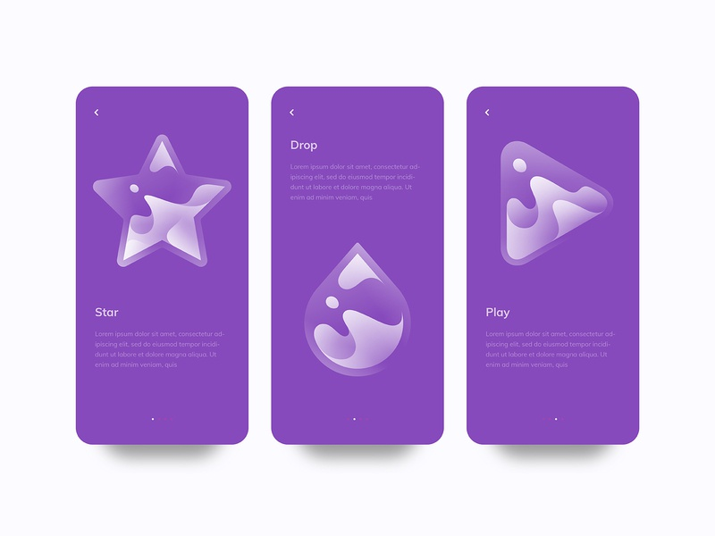 Liquid brand gradient logo modern logo simple logo logo design logo designer logo line drop play star milk water liquid ios mobile app ui design branding