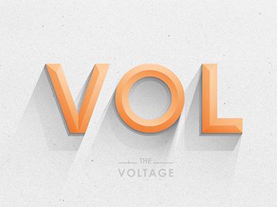 Voltage Type logo © yoga perdana type vol vector illustration typography voltage shadow gradients shades lighting custom type custom handmade yp