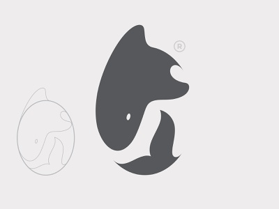 🦈 🐋 branding logo fish whale animal design vector illustration