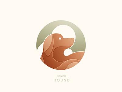Bench Hound Logo bench hound logo hound dog logo construction © yoga perdana badge illustration vector yp