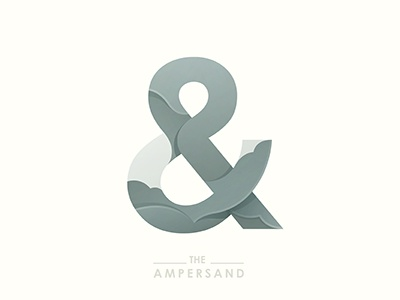 The Ampersand ampersand illustration typography ai vector logo © yoga perdana type yp
