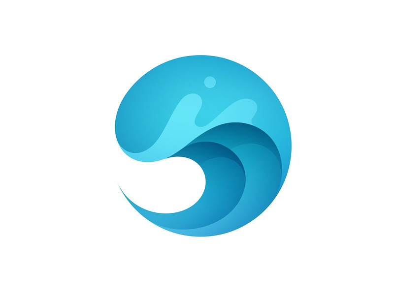 Wave visual identity clean logo brand design graphic design identity logo vector symbol mark brand gradient logo modern logo simple logo logo design logo designer ocean water beach wave branding logo