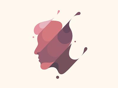 Man spill liquid water slash splash flat design flat illustration male man branding illustration