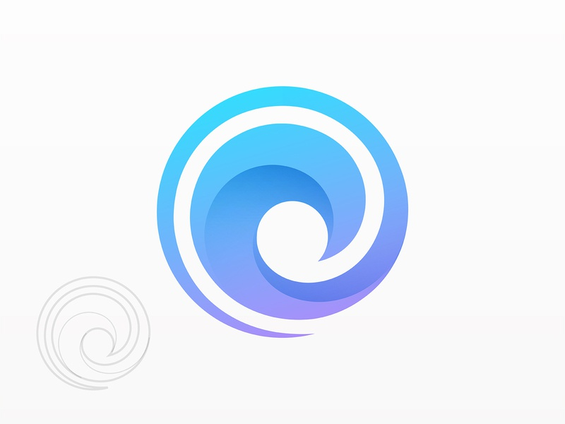 Circle clean logo brand design graphic design identity logo vector mark brand water beach symbol ocean curve wave simple logo modern logo gradient logo logo designer logo design branding logo