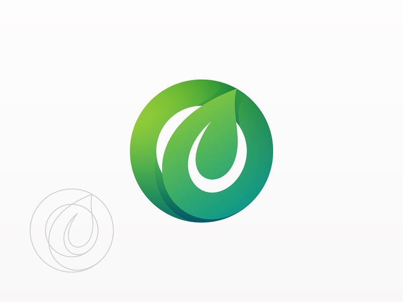 Organic Logo visual identity clean logo brand design graphic design identity logo vector symbol mark brand eco green gradient logo logo design modern logo simple logo leaf branding logo
