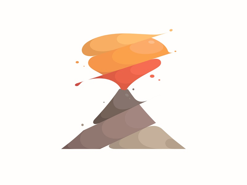 volcano volcano illustration