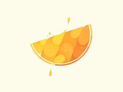 Orange fruit orange design vector branding illustration