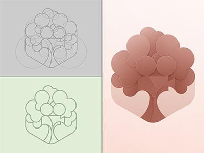 Cinematree Logo © yoga perdana logo illustration vector yp branding tree cinema cinematree icon construction