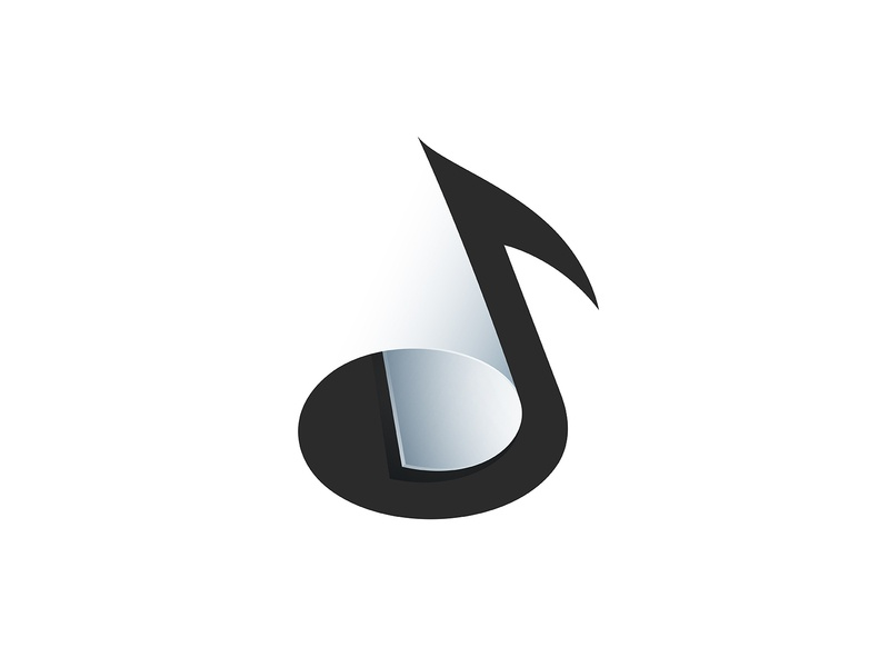 Music Sheet Logo illustration visual identity clean logo brand design graphic design identity logo vector symbol mark brand gradient logo music note modern logo music logo simple logo logo design branding logo