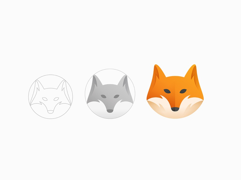 fox visual identity clean logo brand design graphic design identity logo vector symbol mark brand gradient logo modern logo simple logo logo design mascot moblie app icon fox branding logo