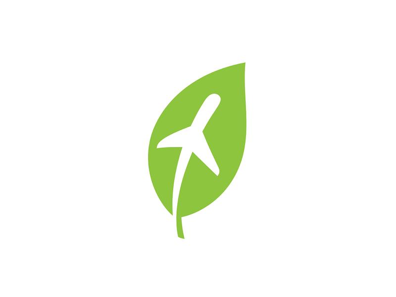 ✈️ + 🌱 illustration visual identity clean logo brand design graphic design identity logo vector symbol logo design icon mark brand modern logo simple logo leaf plane branding logo