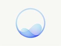 Flow visual identity clean logo brand design graphic design identity logo vector symbol mark branding brand gradient logo modern logo simple logo logo design logo flow wave illustration