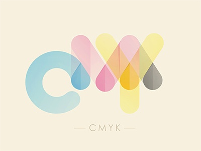 CMYK cmyk illustration © yoga perdana bubble ink type yp logo cyan magenta yellow black
